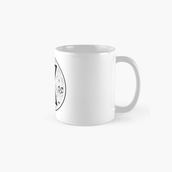 Black Widow Mandala Black and White Classic Mug