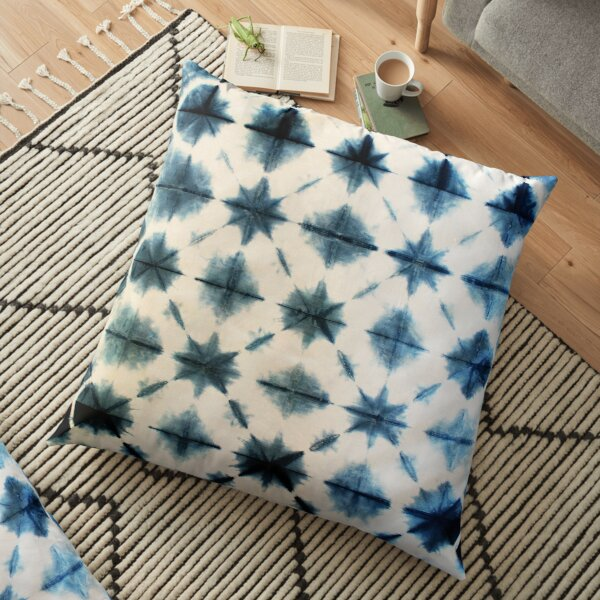 Shibori Tie Dye, Indigo Floor Pillow