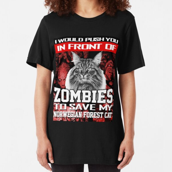 Zombies to Save My Cat Halloween 2018 T-Shirt