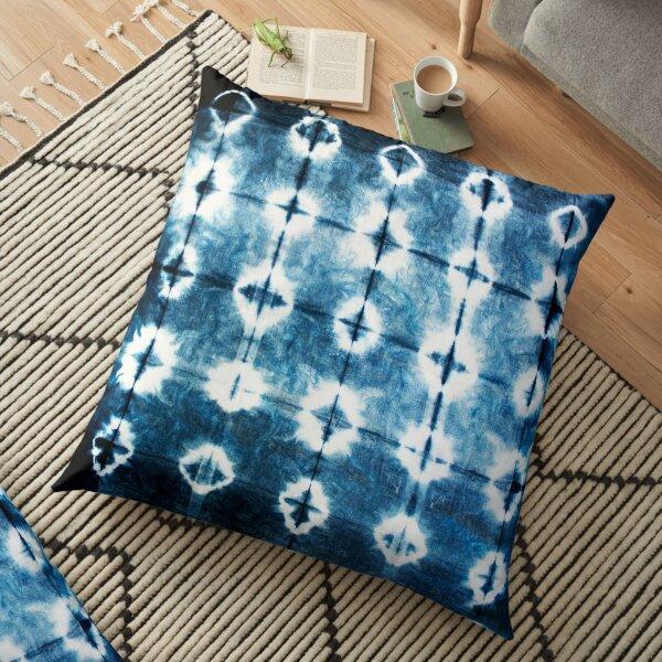 Shibori Indigo Tie Dye Floor Pillow