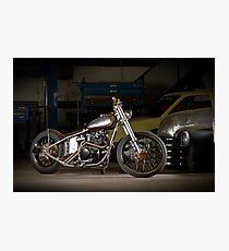 Davo's Custom Honda Bobber Photographic Print