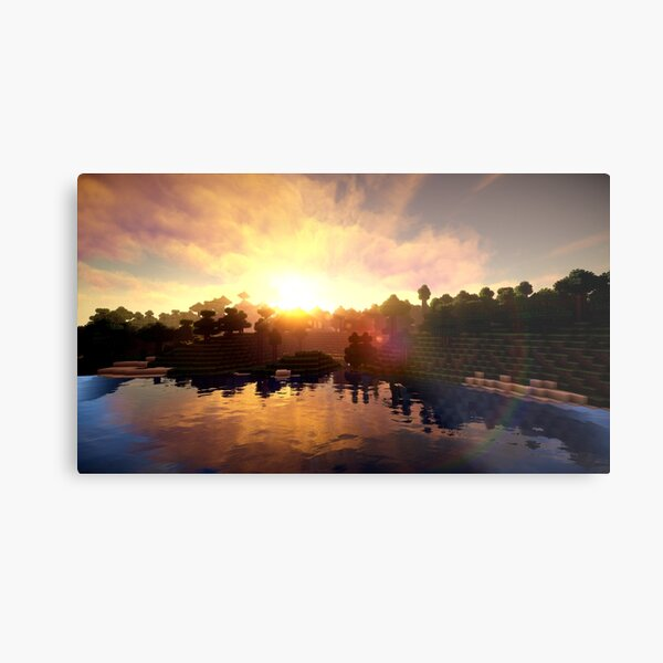 Minecraft Shader Picture Metal Print