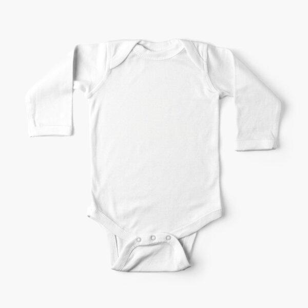 Large Mic White Logo Long Sleeve Baby One-Piece