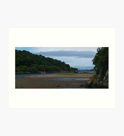 Low Tide at Crinan Ferry Art Print