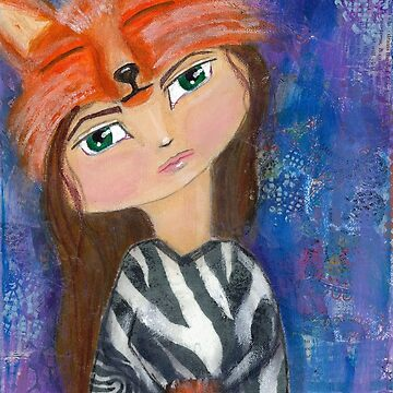 "Wild Child Series ""Foxy Lady"" by lonebirdstudio"