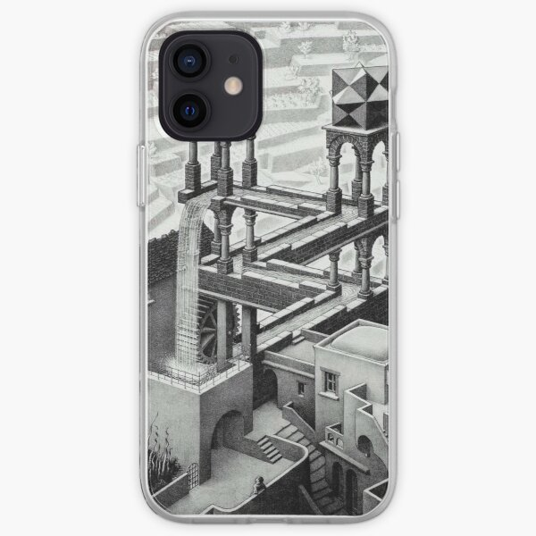 MC Escher Waterfall 1961 Artwork for Posters Prints Tshirts Men Women Kids iPhone Soft Case