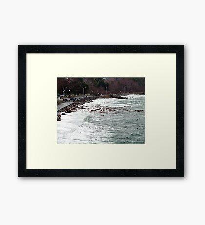 Ross Bay Storm Framed Print