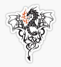Totemic flaming dragon Sticker
