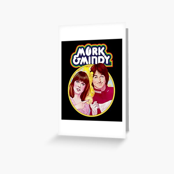 Mork and Mindy Greeting Card