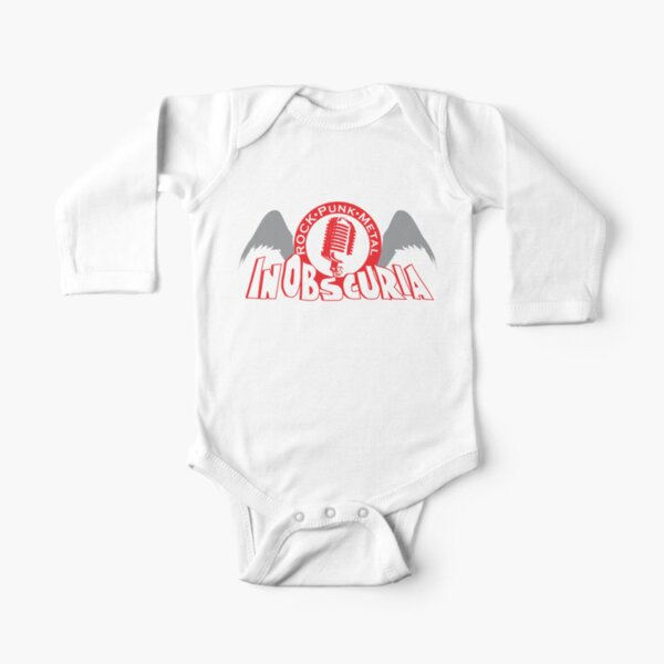 Large Mic Logo Long Sleeve Baby One-Piece