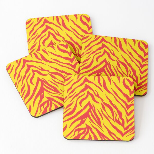 Mask KC Retro Zebra Stripes Football Kansas City Vintage Kc football Kingdom Kansas city Zebra KC cheetah Stripes Pro Gear Coasters (Set of 4)