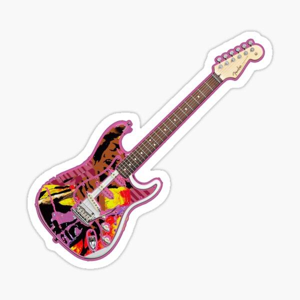 Jimi Hendrix Stratocaster Sticker
