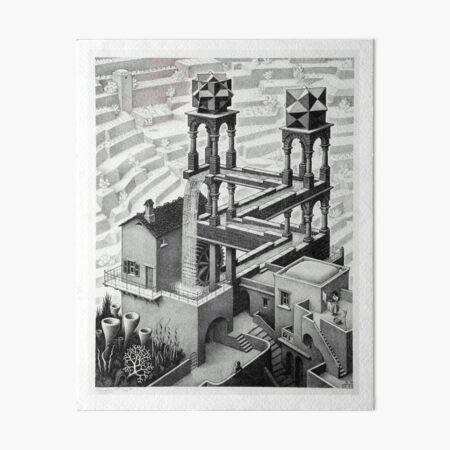MC Escher Waterfall 1961 Artwork for Posters Prints Tshirts Men Women Kids Art Board Print
