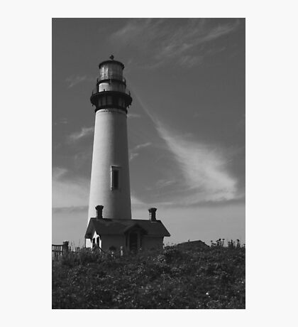 Lighthouse in B&W Photographic Print