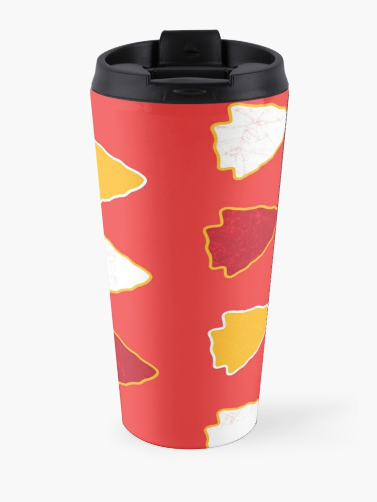 Alternate view of Arrowhead KC Football Kansas City Vintage Kc football Kingdom Kansas city Pro Gear Travel Mug