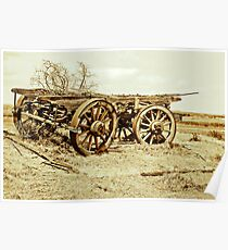 Cart From Days Gone By - Country South Australia Poster