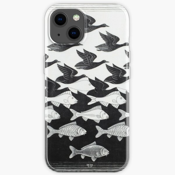 MC Escher Sky and Water I 1938 Artwork for Posters Prints Tshirts Men Women Kids iPhone Soft Case