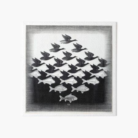 MC Escher Sky and Water I 1938 Artwork for Posters Prints Tshirts Men Women Kids Art Board Print
