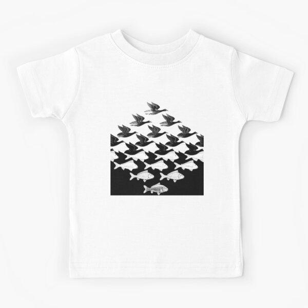 MC Escher Sky and Water I 1938 Artwork for Posters Prints Tshirts Men Women Kids Kids T-Shirt