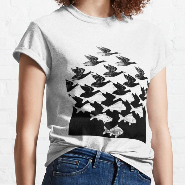 MC Escher Sky and Water I 1938 Artwork for Posters Prints Tshirts Men Women Kids Classic T-Shirt