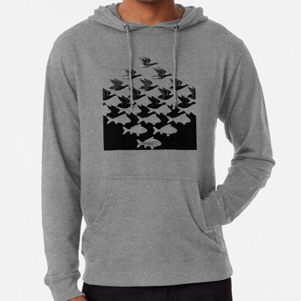 MC Escher Sky and Water I 1938 Artwork for Posters Prints Tshirts Men Women Kids Lightweight Hoodie