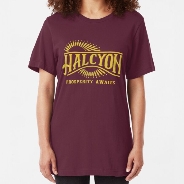 Halcyon Colony Logo | The Outer Worlds Logo Slim Fit T-Shirt