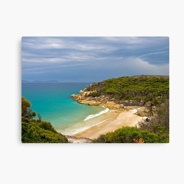 Approaching rain storm, Wilsons Promontory, Victoria. Canvas Print