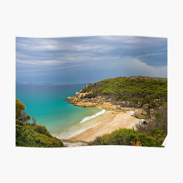 Approaching rain storm, Wilsons Promontory, Victoria. Poster