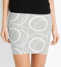 Swirly Whirly Random Circles Grey Mini Skirt