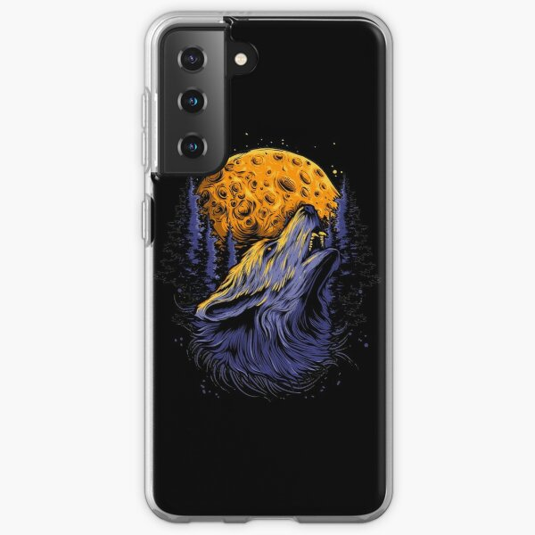 Wolf and the moon. Samsung Galaxy Soft Case