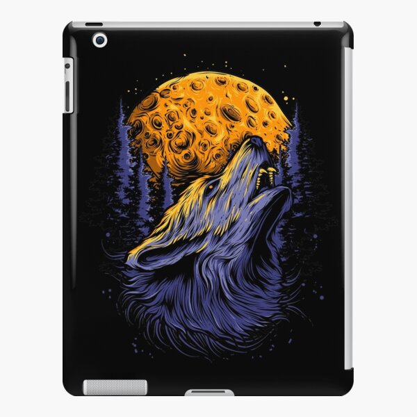 Wolf and the moon. iPad Snap Case