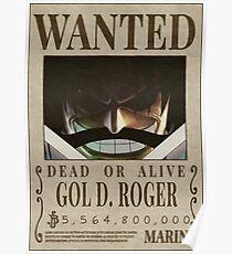 Posters Sur Le Theme Gol D Roger Redbubble
