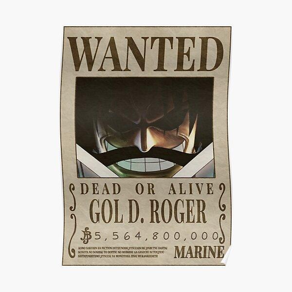 Je voulais Gol D Roger - dol d. Roger Bounty Poster