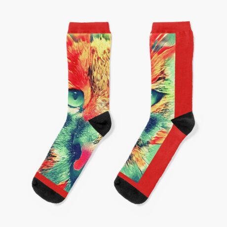 Artificial neural style wild cat Socks