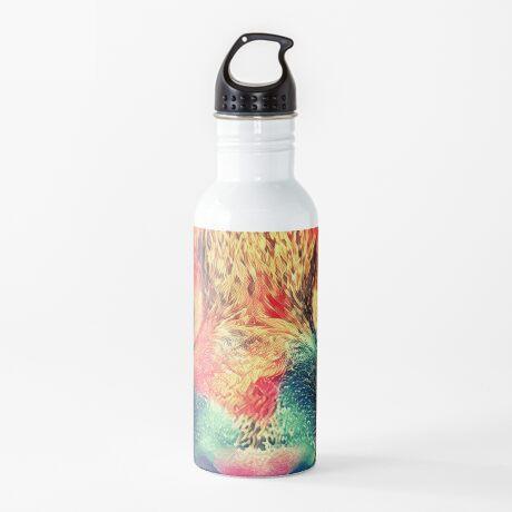 Artificial neural style wild cat Water Bottle