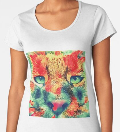 Artificial neural style wild cat Premium Scoop T-Shirt