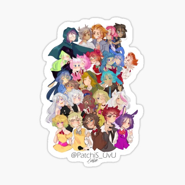 FHS ALL CHARACTERS. Sticker