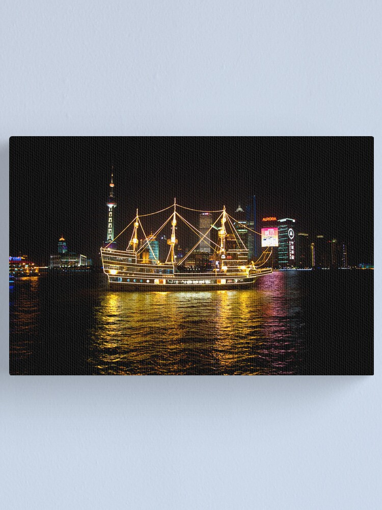 Alternate view of Shanghai Tall Ship Canvas Print