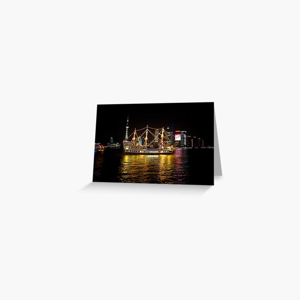 Shanghai Tall Ship Greeting Card
