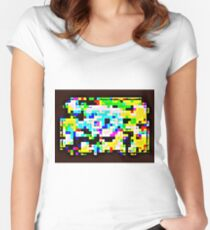 Techno Rainbow Women's Fitted Scoop T-Shirt