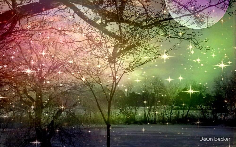 A Night of Fantasy on a Moon Lit Night ©  by Dawn Becker