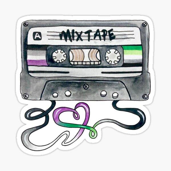 Aro/Ace Mixtape Sticker Sticker