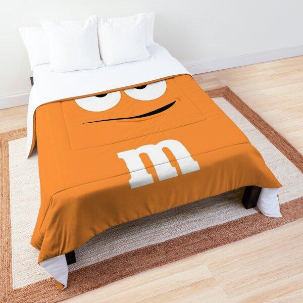 Orange M&M Face Comforter