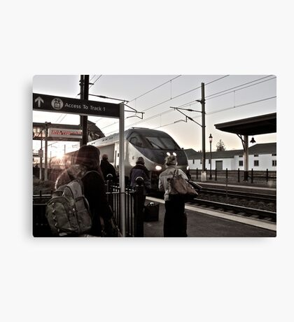 Folks Head Home By Train After Thanksgiving *featured Canvas Print
