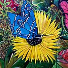 Butterflies and Flora 1 by Angela Gannicott