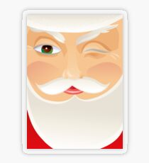 Santa Claus Transparent Sticker