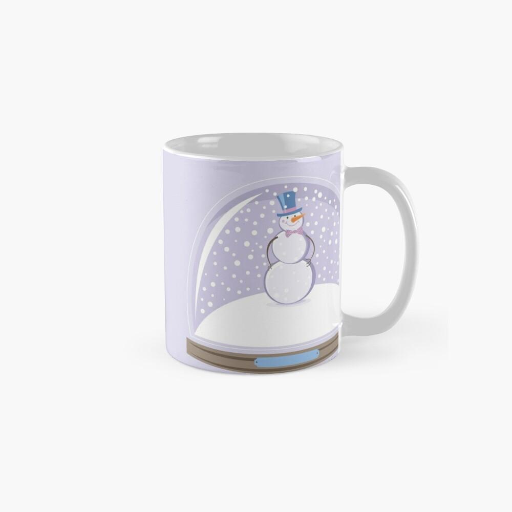 Snowman in Globe Ball Classic Mug