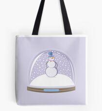 Snowman in Globe Ball Tote Bag