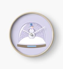 Snowman in Globe Ball Clock