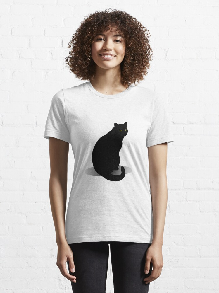 Alternate view of Basic Black Cat Essential T-Shirt